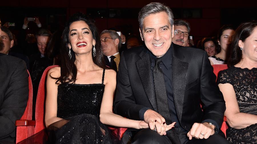 George Clooney e sua mulher, Amal Alamuddin - Pascal Le Segretain/Getty Images