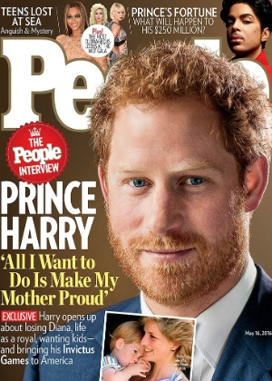 """Príncipe Harry é capa da revista """"People"""" - Divulgação/People"""
