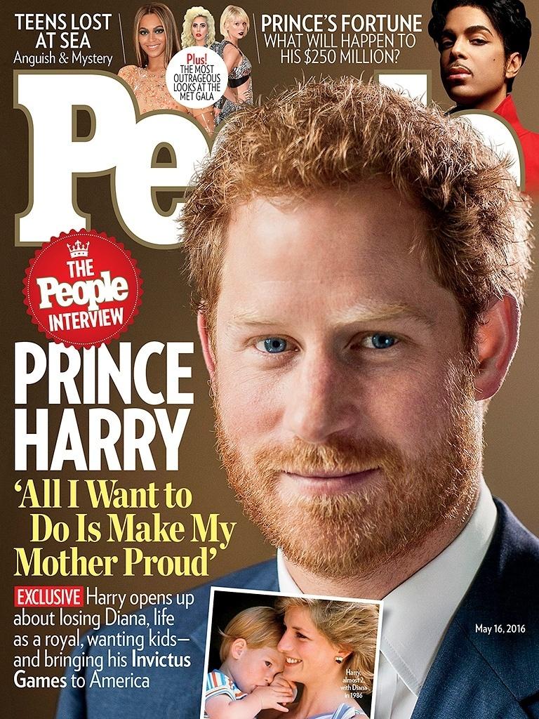 4.mai.2016 - Príncipe Harry é capa da revista