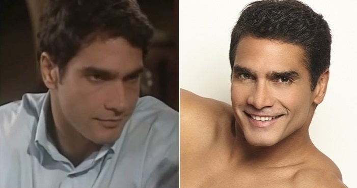 """Montagem de Rafael Calomeni em """"Mulheres Apaixonadas"""" (2003) e em uma campanha de cuecas (2013)"""