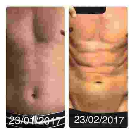"""O ex-jogador Rivaldo exibiu no Instagram um """"antes e depois"""" com barriga de tanquinho - Reprodução/Instagram"""