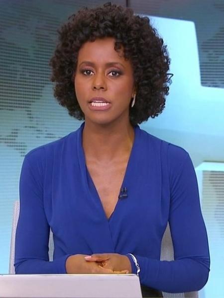 Maju Coutinho estreia como apresentadora do Jornal Hoje - Reprodução/TV Globo