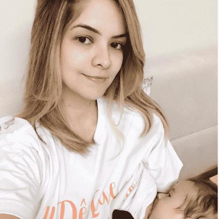 Maria Cecília amamenta Pedro, seu filho com Rodolfo - Reprodução/Instagram/mariaceciliaerodolfo