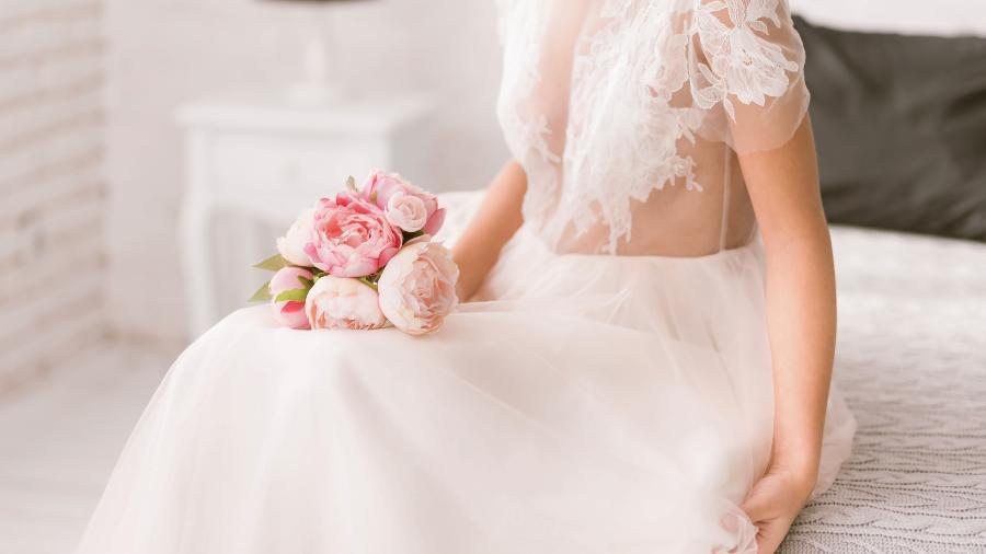 noiva vestido transparente - Getty Images