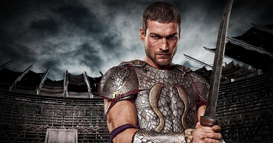 """Andy Whitfield em cena de """"Spartacus: sangue e areia"""""""