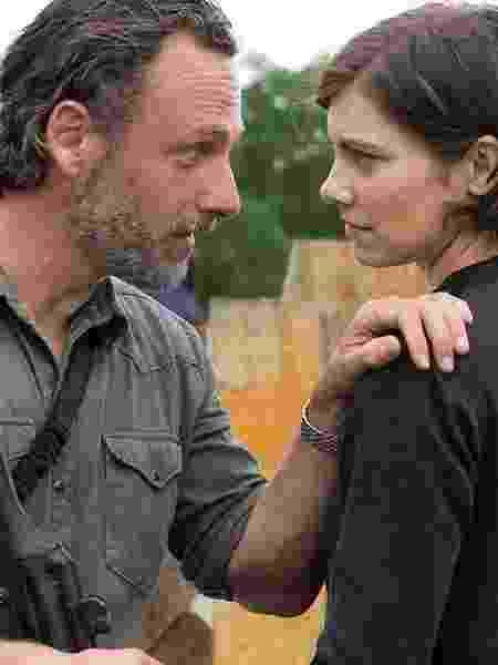 """Rick e Maggie no primeiro episódio da 8ª temporada de """"The Walking Dead"""" - Divulgação - Divulgação"""