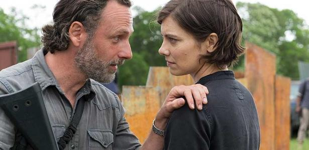 "Rick e Maggie no primeiro episódio da 8ª temporada de ""The Walking Dead"""