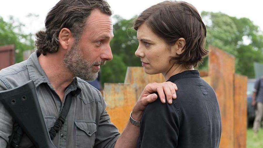 """Rick e Maggie no primeiro episódio da 8ª temporada de """"The Walking Dead"""" - Divulgação"""