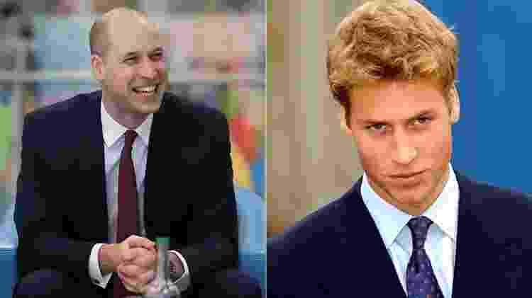 William em 2018 e em 2001 - Getty Images - Getty Images