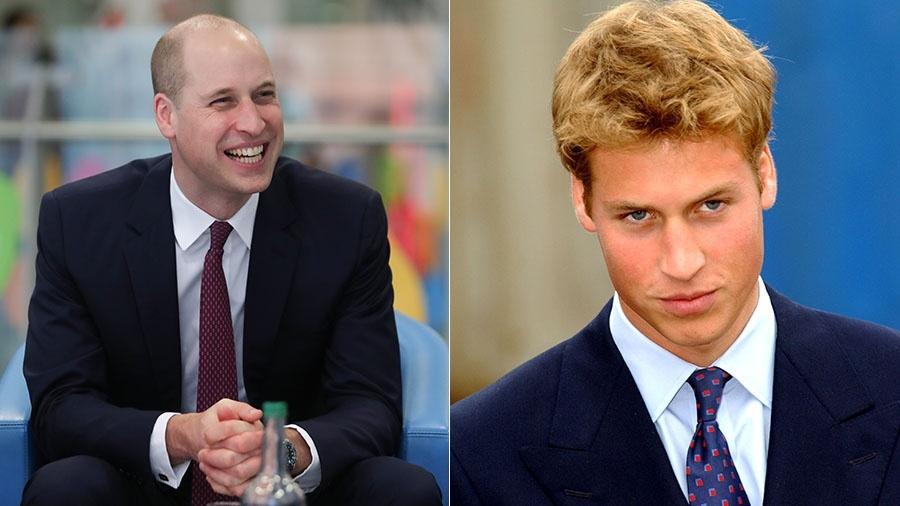 William em 2018 e em 2001 - Getty Images