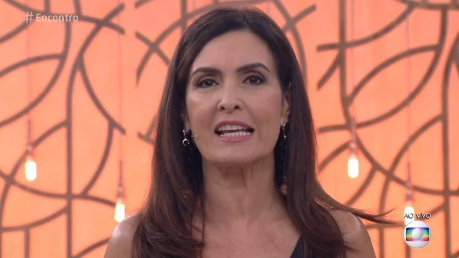 Fátima Bernardes abordou a luta por igualdade nesta quinta-feira (8) - Reprodução/TV Globo