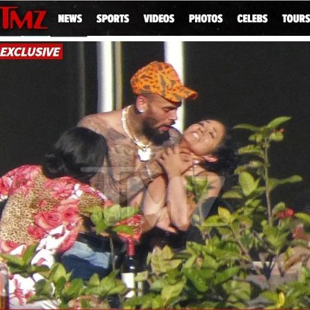 Chris Brown, em Miami - Reprodução