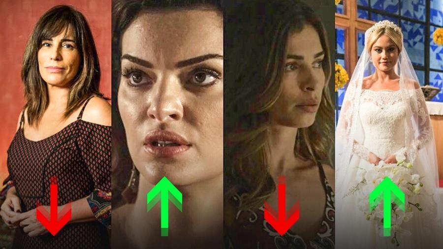 """Alguns atores avançaram, outros retrocederam em """"O Outro Lado do Paraíso"""" - Reprodução/Divulgação/Globo/Montagem UOL"""