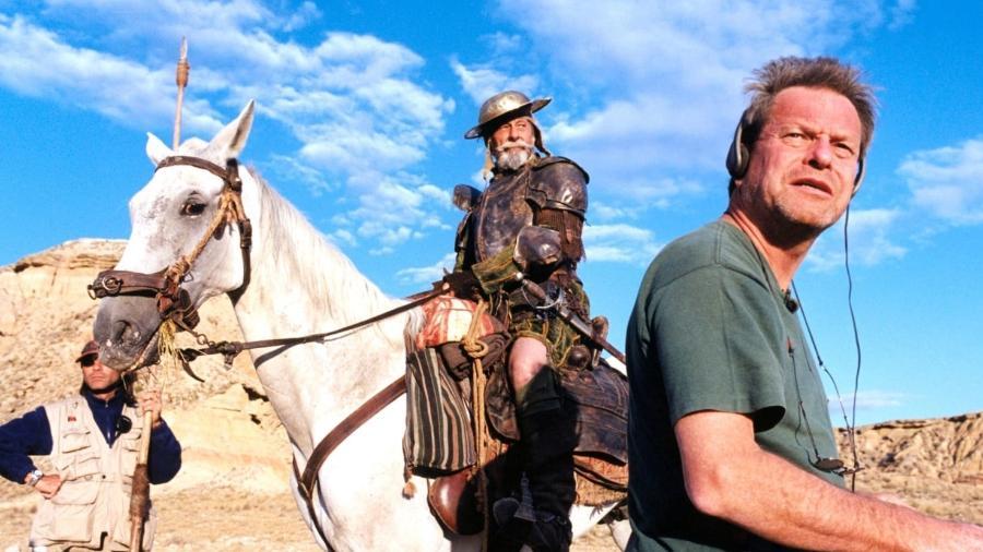 """Terry Gilliam durante filmagem de """"Don Quixote"""" - Reprodução"""