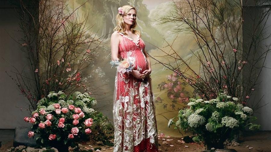 Kirsten Dunst posa grávida na campanha de Outono/Inverno 2018 da Rodarte - Divulgação