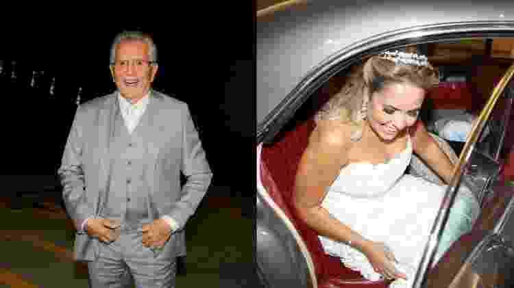 Carlos Alberto de Nóbrega e Renata Domingues se casaram em São Paulo - AgNews/Montagem UOL - AgNews/Montagem UOL