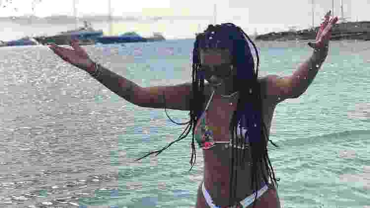 Ludmilla curte banho de mar em Ibiza; ela viajou para a Europa com a mãe - Reprodução/Instagram - Reprodução/Instagram