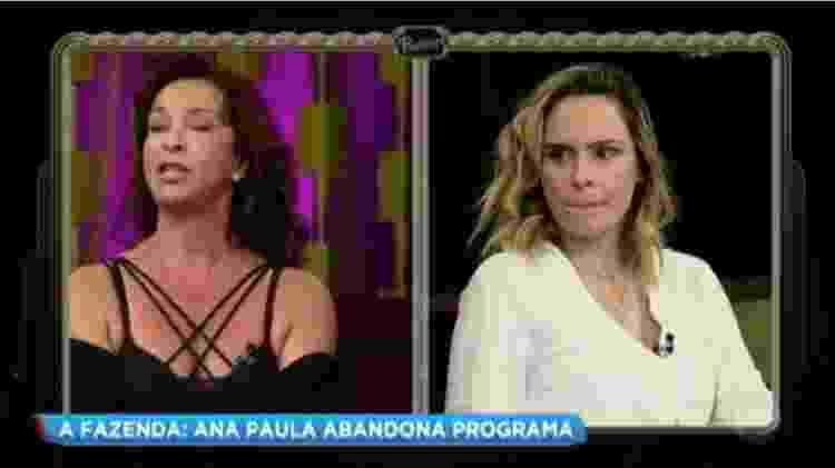 """Vida Vlatt e Ana Paula Renault batem boca no """"Programa do Porchat"""" - Reprodução/TV Record - Reprodução/TV Record"""