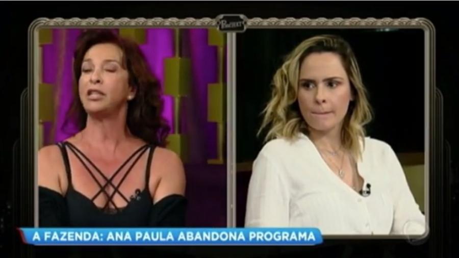 Vida Vlatt bate boca com Ana Paula Renault, que abandona programa; veja cena - Reprodução/TV Record