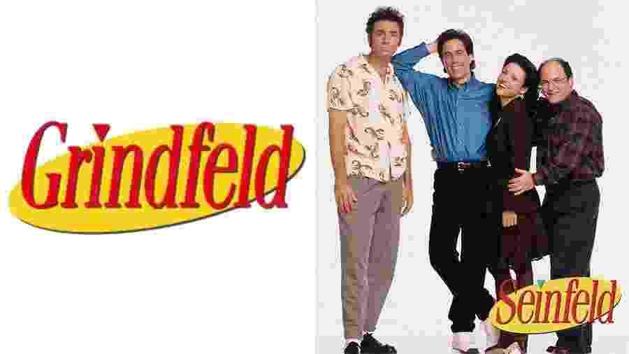 Seinfeld e Grindfeld - Arte UOL e Divulgação