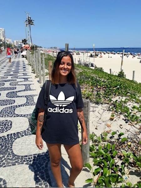 Luiza foi agredida por um policial militar por causa de um cigarro de tabaco - Arquivo pessoal