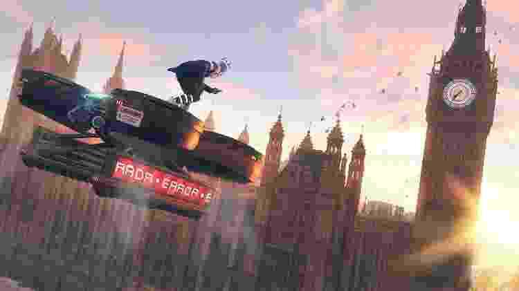 Um drone aparece voando próximo ao Parlamento britânico no novo Watch Dogs - Divulgação