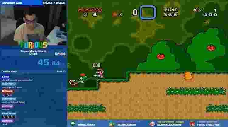 """Matheus Furtado, ou FURiOUS, termina """"Super Mario World"""" em menos de 42 segundos - Reprodução"""