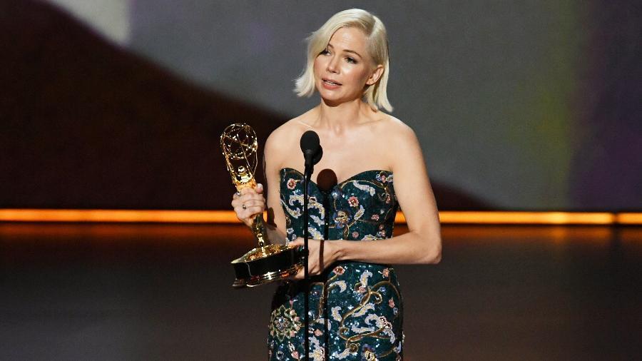 Michelle Williams, de Fosse/Verdon, vence como Melhor Atriz em Minissérie ou Filme para a TV no Emmy - Kevin Winter/Getty Images