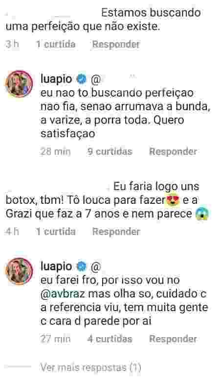 Luana Piovani explica plástica nas axilas e diz que fará botox - Reprodução/Instagram