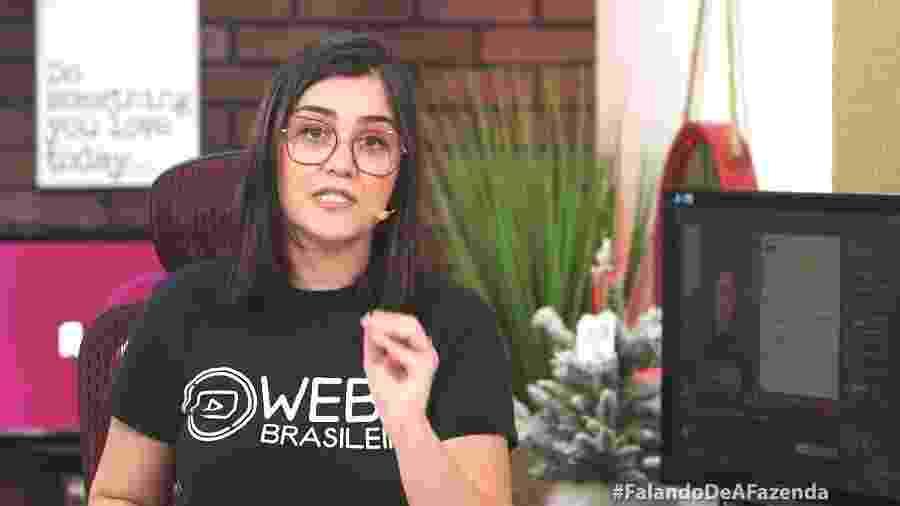 Tati Martins apresenta canal no YouTube WebTVBrasileira - Reprodução/RecordTV