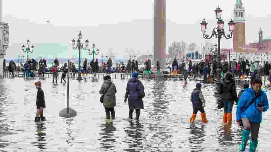 Veneza sofreu em meados de novembro sua pior semana de inundação desde 1872 - Getty Images