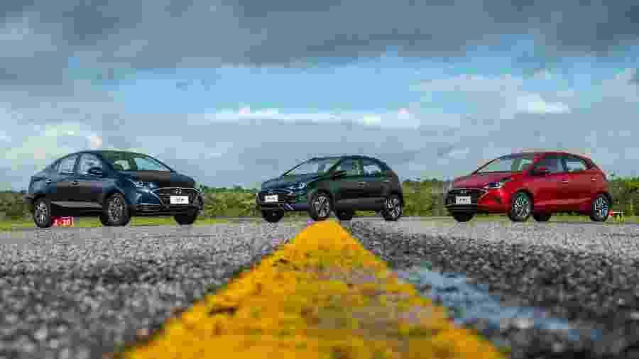 Hyundai aproveitou a reestilização da família HB20 para reformular a gama de cores  - Hyundai/Divulgação