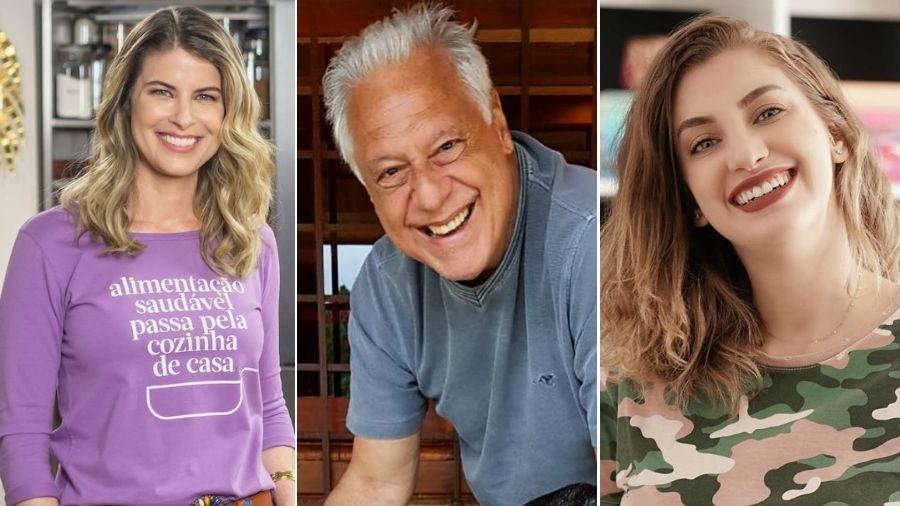 Rita Lobo, Antônio Fagundes e Carol Moreira - Fotomontagem/Editora Panelinha/Reprodução/Instagram