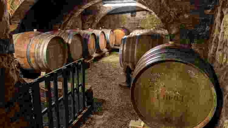Barris da vinícola Pacina, em Castelnuovo Berardenga, Itália - Divulgação - Divulgação