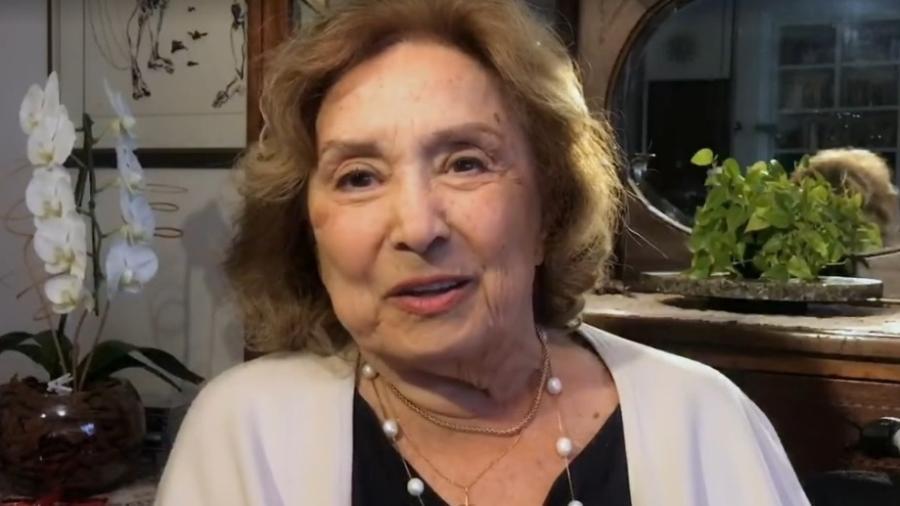 Eva Wilma durante participação no Conversa com Bial  - Reprodução/vídeo