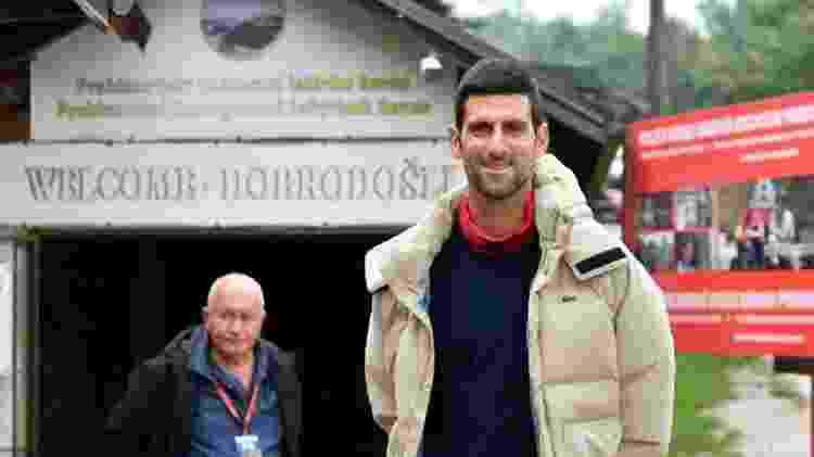 Novak Djokovic durante visita à Visoko - Getty Images - Getty Images