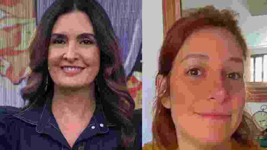 Fátima Bernardes (à esquerda) e Natasha Dantas (à direita) - Reprodução/Instagram