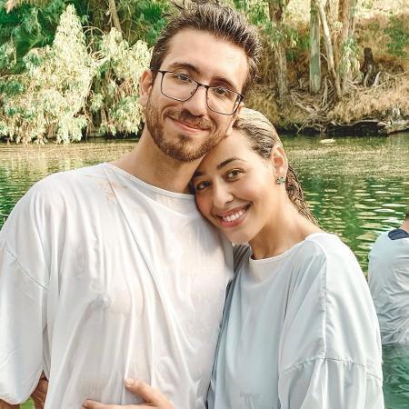Camila Monteiro e o marido  - Reprodução/Instagram