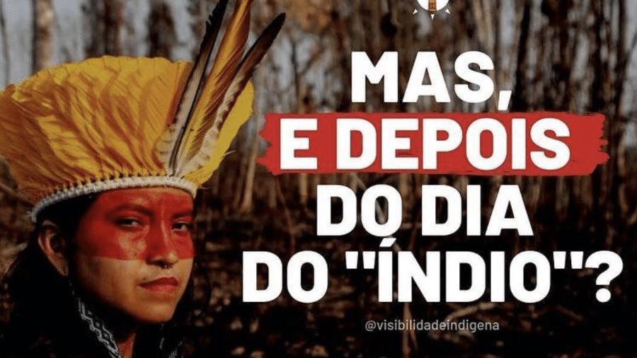 Visibilidade Indígena - Reprodução/Instagram Visibilidade Indígena