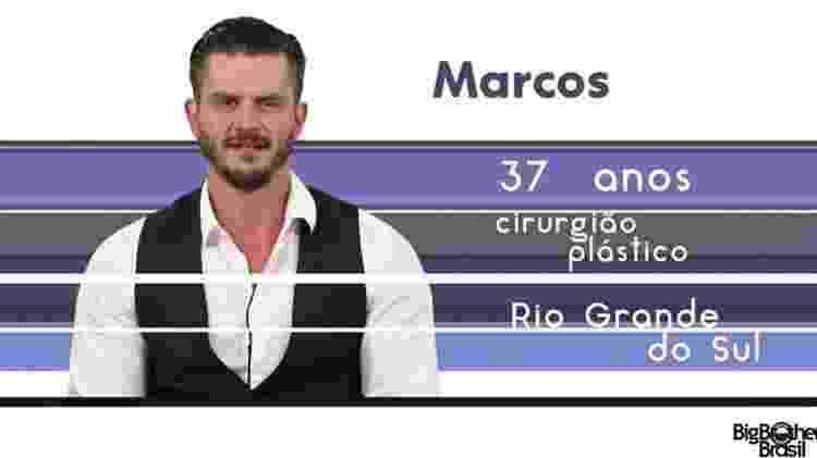 """Marcos """"BBB17"""" - Reprodução/TV Globo - Reprodução/TV Globo"""