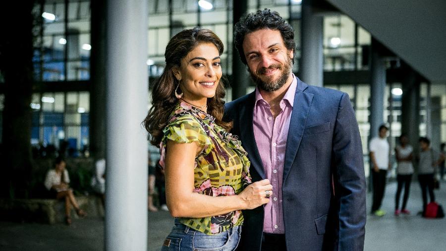 """Bibi (Juliana Paes) e Caio (Rodrigo Lombardi) voltam a se aproximar em """"A Força do Querer"""" - Divulgação/TV Globo"""