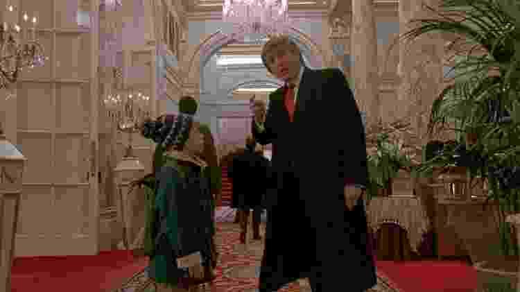 Trump em cena de 'Esqueceram de Mim 2 - Perdido em Nova York' - Reprodução - Reprodução