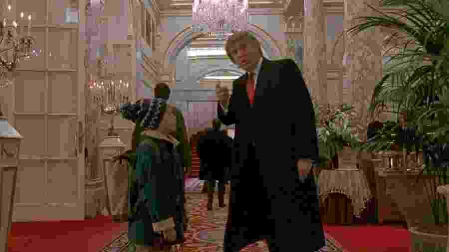 Trump em cena de Esqueceram de Mim 2 - Perdido em Nova York - Reprodução