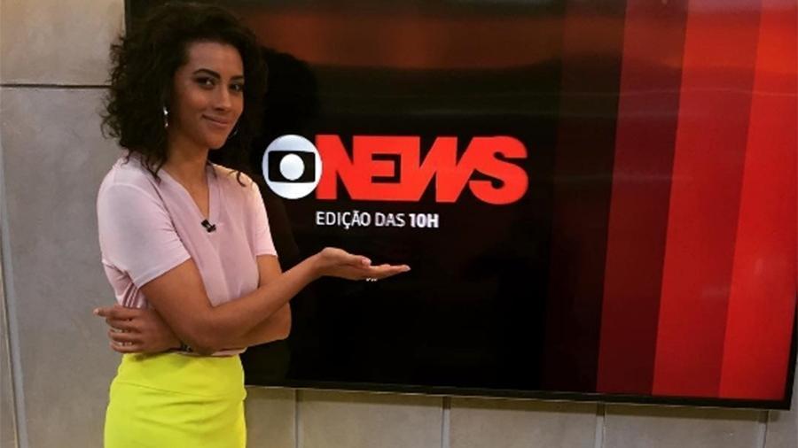 """Aline Midlej comanda o """"Globo News Edição das 10h"""" - Reprodução/Instagram"""