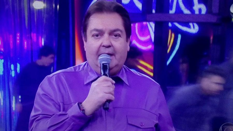 O apresentador Fausto Silva - Reprodução