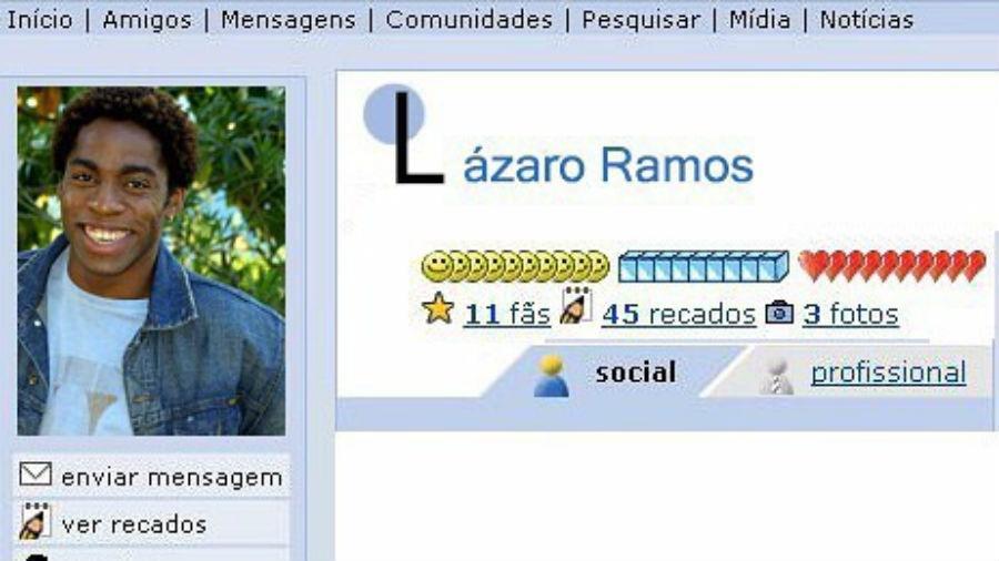 Lázaro Ramos relembra perfil no Orkut - Reprodução/Instagram