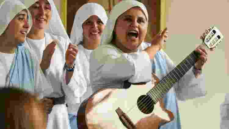 A freira María Valentina de Los Angeles vai cantar para o papa durante passagem pela Colômbia - Reprodução - Reprodução