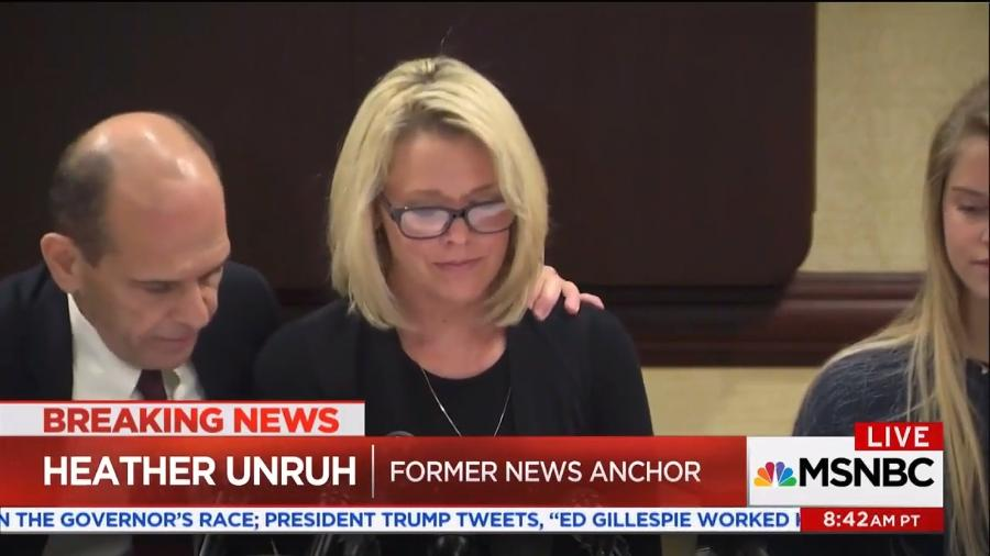 A jornalista norte-americana Heather Unruh acusa o ator Kevin Spacey de ter assediado sexualmente o seu filho de 18 anos - Reprodução
