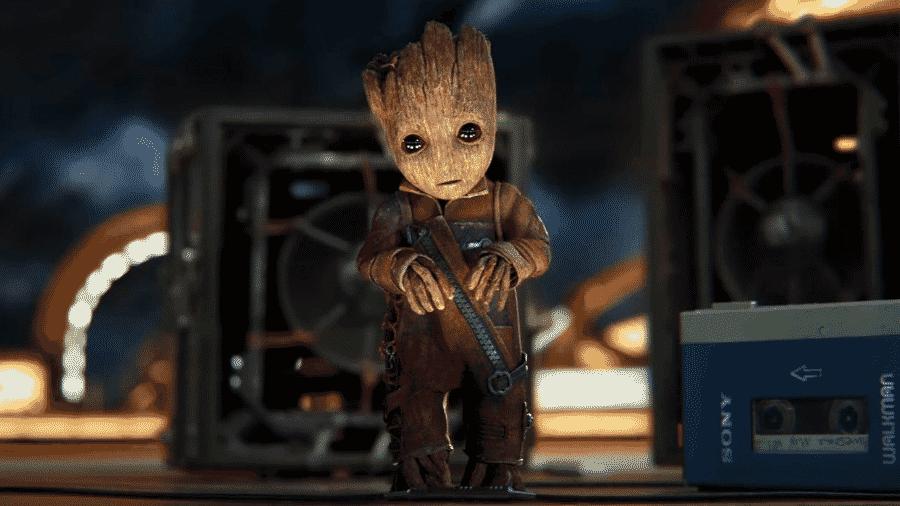 """Groot em cena de """"Guardiões da Galáxia Vol. 2"""" - Reprodução"""