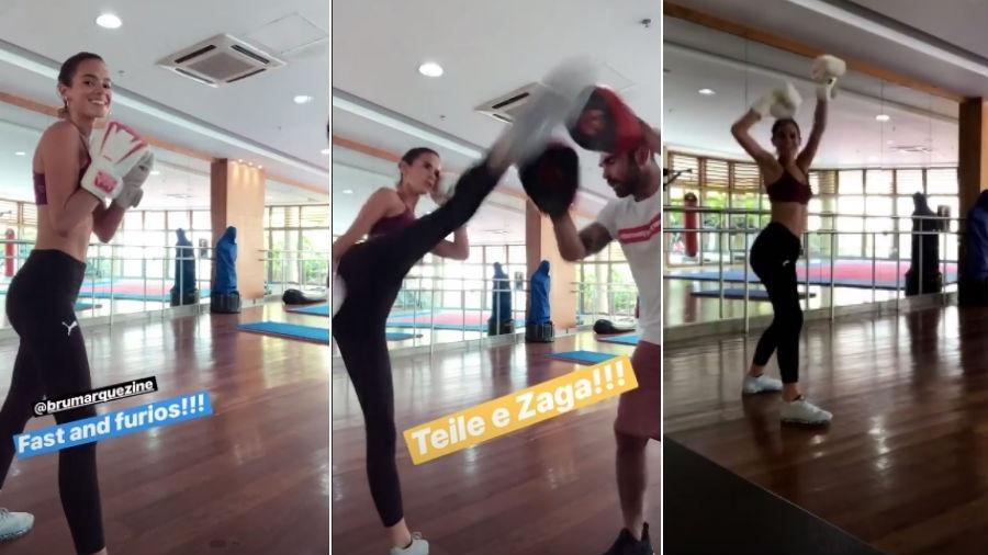 Bruna Marquezine treina com Chico Salgado - Reprodução/Instagram